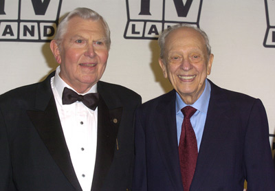 "Andy Griffith and Don Knotts, winners of the Legend Award for ""The Andy Griffith Show"" TV Land Awards - Press Room The Hollywood Palladium Hollywood, CA USA March 7, 2004 Photo by Steve Granitz/WireImage.com To license this image (2367035), contact WireImage: U.S. +1-212-686-8900 / U.K. +44-207 659 2815 / Australia +61-2-8262-9222 / Japan: +81-3-5464-7020 +1 212-686-8901 (fax) info@wireimage.com (e-mail) www.wireimage.com (web site)"